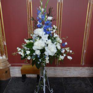 Pedestal and Large Floral Arrangements